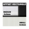 ABS Plasticard - Offset Rectangle Small