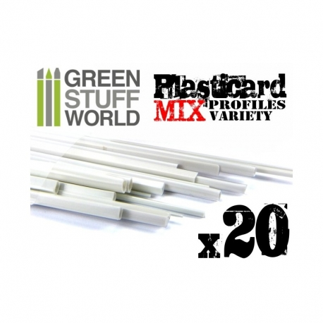 ABS Plasticard - Profile - 20x Variety Pack