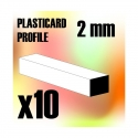 ABS Plasticard - Profile Squared Rod 2mm