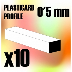 ABS Plasticard - Profile Squared Rod 0.5mm