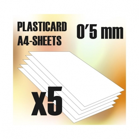 ABS Plasticard A4 - 0.5mm Combo x5 Sheets