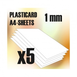 ABS Plasticard A4 - 1mm Combo x5 Sheets