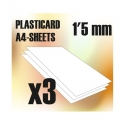 ABS Plasticard A4 - 1.5mm Combo x3 Sheets