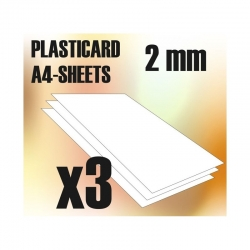 ABS Plasticard A4 - 2mm Combo x3 Sheets