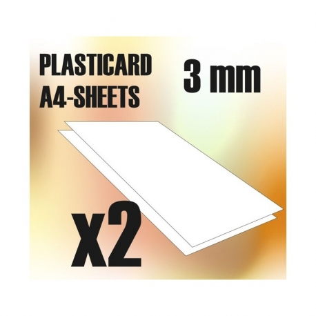 ABS Plasticard A4 - 3mm Combo x2 Sheets