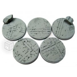 Beveled Edge: 40mm Ruined Temple Bases