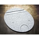 Beveled Edge: Oval 95x120mm Town Square