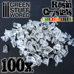 Resin Crystals Transparent Colourables