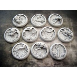 Round Lip: 30mm Corpse Fields Bases
