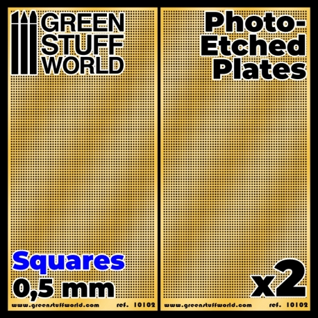 Photo-etched Plates - Small Squares