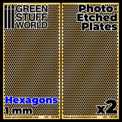 Photo-etched Plates - Large Hexagons
