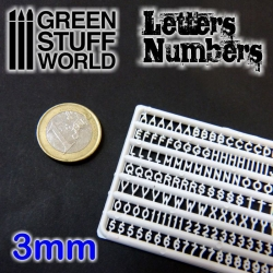 Letters and Numbers 3mm