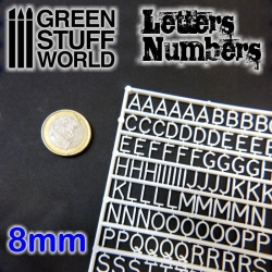 Letters and Numbers 8mm