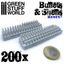 200x Resin Bullets and Shells