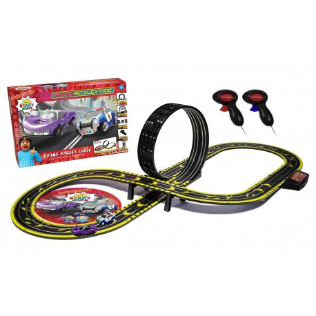 Micro Scalextric Ryans World Street Chase Battery Powered Race Set