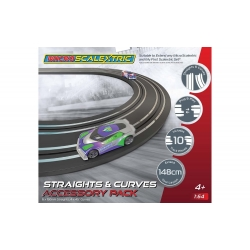 Micro Scalextric Track Extension Pack - Straights & Curves