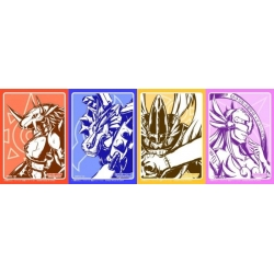 Assorted DISPLAY Digimon Card Game Sleeves (4 Designs - 60ct)