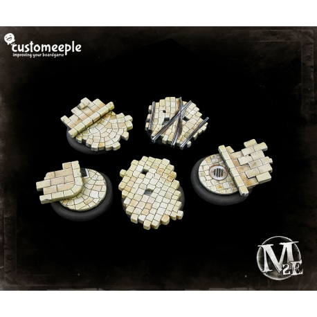 Malifaux Street Tactic Bases - 40mm for 50mm Bases