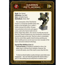 MechWarrior Pilots Card Pack No.2