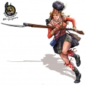 Fiona from 42nd Highlanders - 28mm