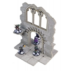 Frozen City Ruins - Two-storey Wall with Arched Door