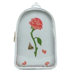 Loungefly: Disney - Beauty and the Beast Pin Trader Convertible Backpack