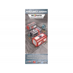 Precinct Sigma Containers Prepainted - Grey / Red