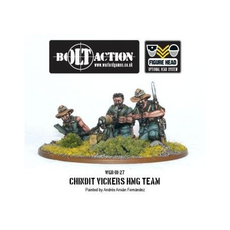 Bolt Action - Chindit Vickers HMG & Crew