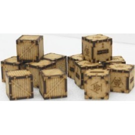 12 Chemical and Wooden Containers