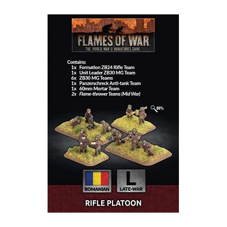 Infantrie Platoon with 4 Rifle squads