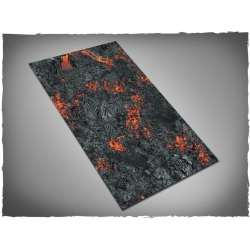 44in x 30in, Realm of Fire Themed PVC Games Mat