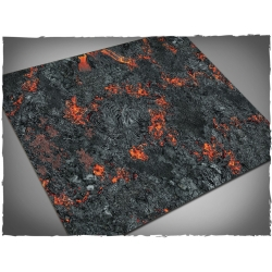 44in x 60in, Realm of Fire Themed PVC Games Mat