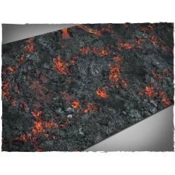 44in x 90in, Realm of Fire Themed PVC Games Mat