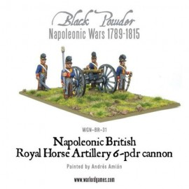 Napoleonic British Horse Artillery 6-pdr Cannon