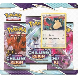 Pokemon TCG: Sword & Shield 6 Chilling Reign 3-Pack Booster Display A