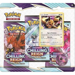Pokemon TCG: Sword & Shield 6 Chilling Reign 3-Pack Booster Display B
