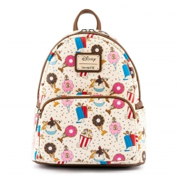 Loungefly: Disney - Chip & Dale Snackies All Over Print Mini Backpack