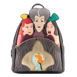 Loungefly: Disney - Villains Scene Evil Stepmother and Step Sisters Mini Backpack