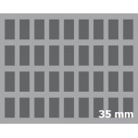 35mm (1.4 Inch) slot foam with base - full-size