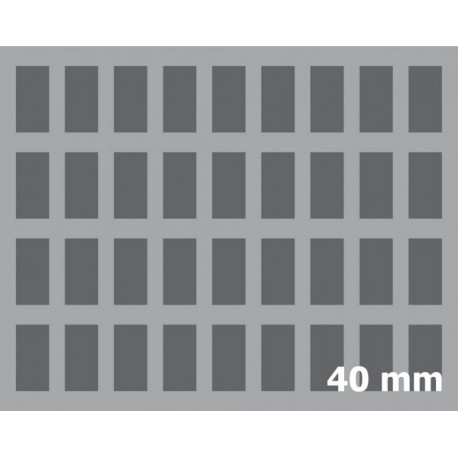 40mm (1,6 Inch) Figure Foam Tray with base - full-size
