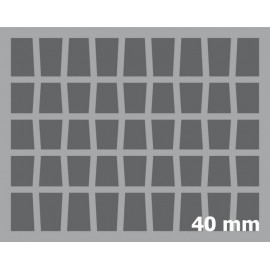 40mm (1.6 Inch) slot foam with base - full-size