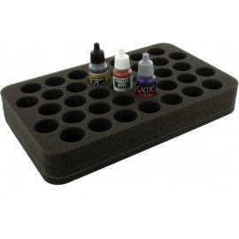 35mm (1.4 inch) half-size Figure Foam Tray with base - 37 round compartments
