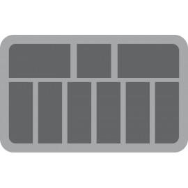60mm (2.4 Inch) 9 slots - foam tray with base - half-size