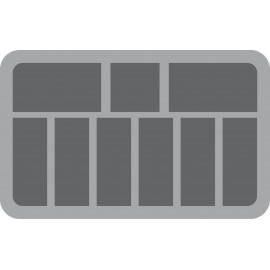 70mm (2.75 Inch) 9 slots - foam tray with base - half-size
