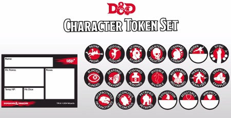 Dungeon And Dragons Character Token Set Accessories