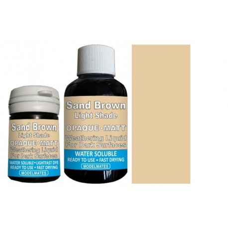 Opaque Weathering Liquid - Light Sand Brown - 18ml