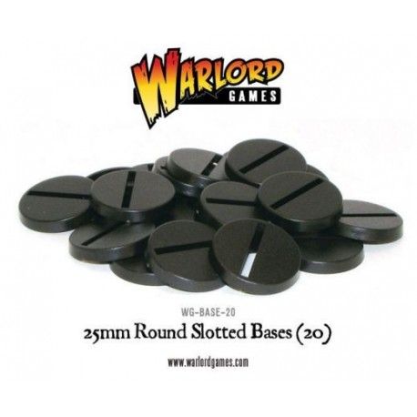 25mm Round Slotted Base