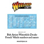 Bolt Action French Vehicle Decals
