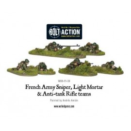 French Army: Sniper, Light Mortar & AT Rifle Teams