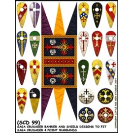 Crusader Banners & Shield transfers